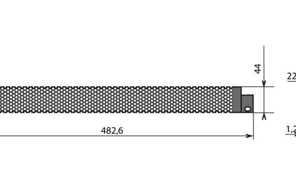 Panneau sécurité 1U «grille»
