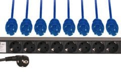 Multiprise de rack 1U (8 PC)