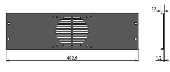 Panneau rack 1 ventilateur