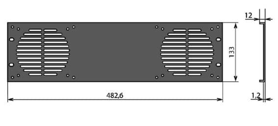 Panneau rack 2 ventilateurs