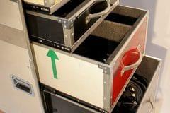 Flightcase avec tiroirs